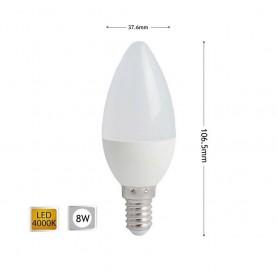 LAMPADINA LED 8 W OLIVA LUCE NATURALE E14 CANDELA 8W E 14 C36