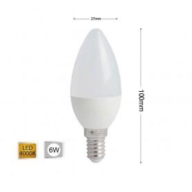 LAMPADINA LED 6 W OLIVA LUCE NATURALE E14 E CANDELA 6W 14 C36