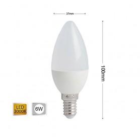 LAMPADINA LED 6 W OLIVA LUCE CALDA E14 E CANDELA 6W 14 C36
