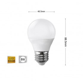 LAMPADINA LED 8W LAMPADINE A SFERA LUCE NATURALE E27 8 W G45
