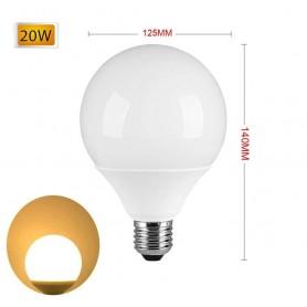 LAMPADINA LED 20 W LAMPADA GLOBO SFERA LUCE CALDA E27 G125