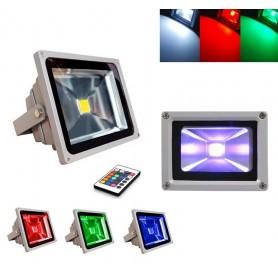 FARO 30W LED RGB SMD ILLUMINATORE FARETTO TELECOMANDO 30 W ESTERNO