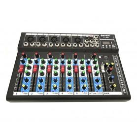 MIXER DJ 7 CH BLUETOOTH KARAOKE PIANOBAR AUDIO LETTORE MP3 MIC USB
