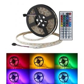 STRISCIA LED RGB 5050 SMD 300 BOBINA 5MT MULTICOLORI ILLUMINAZIONI NEGOZIO