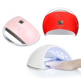 LAMPADA 48W 21 LED UV RICOSTRUZIONE UNGHIE GEL NAIL ART TIMER 30 60 SENSORE