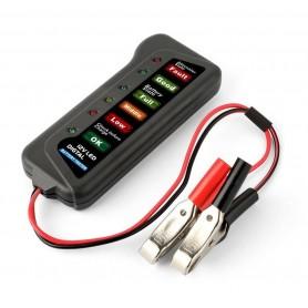 TESTER DIGITALE PER VERIFICA CONTROLLO BATTERIA AUTO MOTO 12V 6 LED