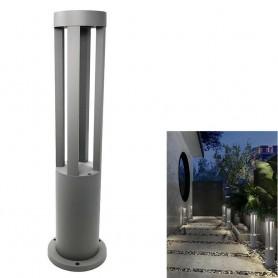 LAMPIONE DA GIARDINO LAMPADA 12W . LED LUCE BIANCA LAMPIONCINO ESTERNO ES28 GRIGIO