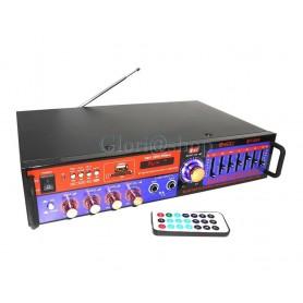 AMPLIFICATORE AUDIO EQUALIZZATORE STEREO BLUETOOTH KARAOKE FM 2 CH USB
