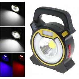 TORCIA 1 LED COB 5W FARO PORTATILE EMERGENZA LAMPADA DA LAVORO USB