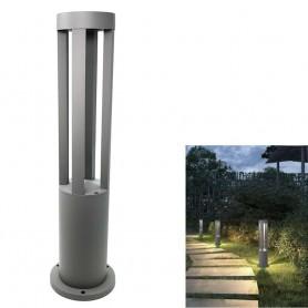 LAMPIONCINO DA GIARDINO LAMPADA 12 . W LED LUCE CALDA LAMPIONE ESTERNO GRIGIO ES28