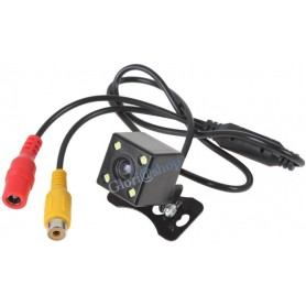 TELECAMERA RETROMARCIA CCD 4 LED RETROCAMERA STAFFA X AUTO CAMPER