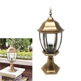 LAMPIONCINO PER CANCELLO LAMPIONE LANTERNA IN VETRO ATTACCO E27 BRONZO ES45
