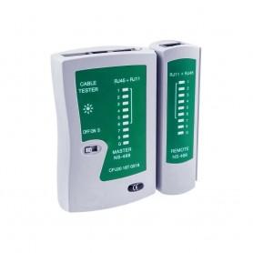 TESTER CAVI DI RETE LAN RJ45 RJ11 RJ12 CAT-5 USB ETHERNET TELEFONO NETWORK