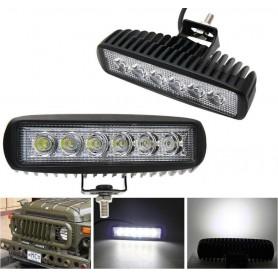FARO 6 LED LAMPADA SUPPLEMENTARE PROFONDITA X AUTO JEEP FUORISTRADA 12V 18W IP68
