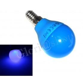 LAMPADINA LED LUCE BLU 4W E14  . LAMPADINE COLORATE LAMPADA SFERA COLOR DECORAZIONI