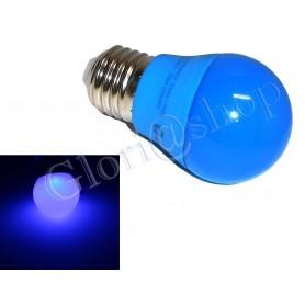 LAMPADINA LED LUCE BLU 4W LAMPADINE  . COLORATE LAMPADA SFERA COLOR DECORAZIONI E27