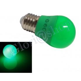 LAMPADINA LED LUCE VERDE 4W LAMPADA . SFERA LUCI COLORI LAMPADINE DECORAZIONI E27