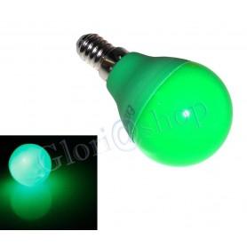 LAMPADINA LED LUCE VERDE 4W E14  . LAMPADA SFERA LUCI COLORI LAMPADINE DECORAZIONI