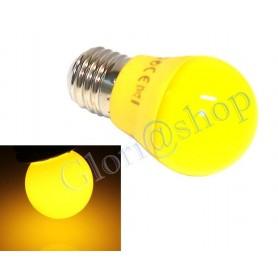LAMPADINA LED LUCE GIALLA 4W LAMPADA GIALLO LAMPADINE X DECORARE E27