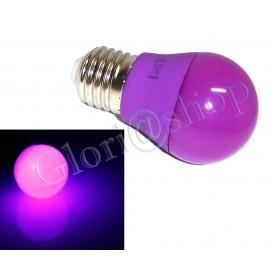 LAMPADINA LED LUCE VIOLA 4W LAMPADA . SFERA LUCI COLORI LAMPADINE DECORAZIONI E27