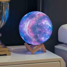 LAMPADA SFERA FORMA DI LUNA 3D . LED RGB COLORI GALAXY TOUCH TELECOMANDO