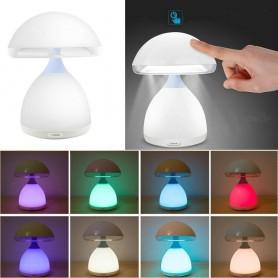 LAMPADA LED LUCE BIANCA 7 COLORI RGB . CROMOTERAPIA LUME LUMETTO DA COMODINO