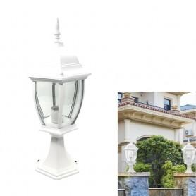 LAMPIONCINO DA CANCELLO LAMPIONE PER GIARDINO LANTERNA IN VETRO E27 BIANCO ES45