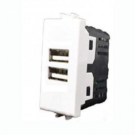 PRESA USB DOPPIA COLORE BIANCO COMPATIBILE MATIX