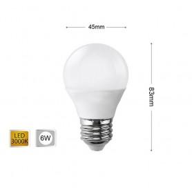 LAMPADINA LED 6 W LAMPADINE A SFERA LUCE CALDA E27 6W G45