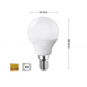 LAMPADINA LED 8 W LAMPADINE A SFERA LUCE BIANCA E14 8W E 14 G45