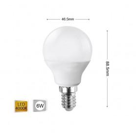 LAMPADINA LED 6 W LAMPADINE A SFERA LUCE NATURALE E14 6W E 14 G45