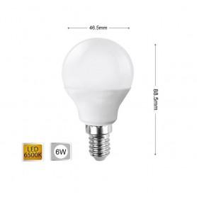 LAMPADINA LED 6 W LAMPADINE A SFERA LUCE BIANCA E14 6W E 14 G45