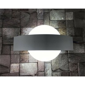 APPLIQUE A LED 8 WATT LUCE BIANCA LAMPADA DA PARETE DOPPIA EMISSIONE E17-BF