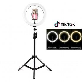 TIK TOK RING LIGHT PER FOTO SELFIE TRUCCO E ALTRO CON TELECOMANDO