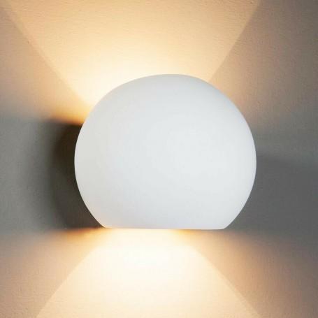 APPLIQUE IN GESSO LAMPADA MODERNA DA PARETE A DOPPIA EMISSIONE LUCE LED G9 E07