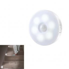 FARETTO 6 LED CON SENSORE DI MOVIMENTO RICARICABILE USB LAMPADA 6W LUCE BIANCA