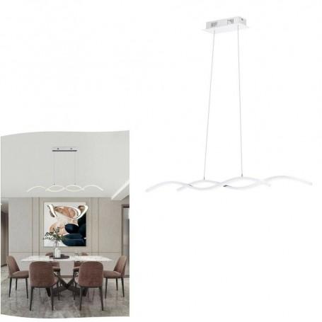 LAMPADARIO LED A SOSPENSIONE 25 W LUCE NATURALE 4000K LAMPADA TWIST