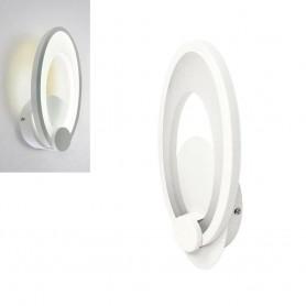 APPLIQUE IN VETRO OVALE LED LUCE BIANCA 9 W LAMPADA DA PARETE INTERNO E25F