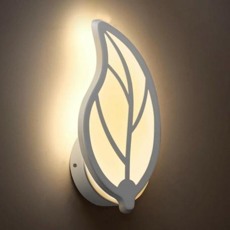 APPLIQUE LED LUCE CALDA 7 W LAMPADA DA PARETE A FORMA DI FOGLIA E32C
