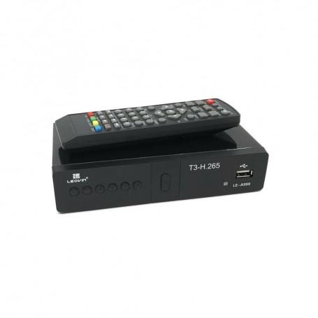 DECODER TV DVB T3 DIGITALE TERRESTRE PRESA SCART HDMI 1080P H.265 LE-A999