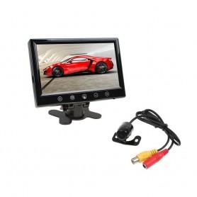 "AUTO KIT RETROMARCIA AUTO MINI CAMERA MONITOR LCD 9"" POLLICI VIDEO AV1 AV2"