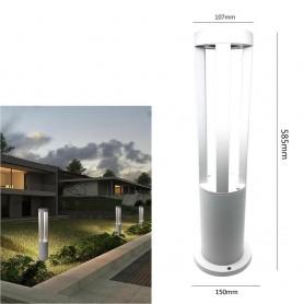 LAMPIONE LED LUCE BIANCA LAMPADA 12 W . LAMPIONCINO DA TERRA GIARDINO ESTERNO IP65