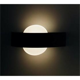 APPLIQUE A LED 8 WATT LAMPADA LUCE CALDA DA PARETE DOPPIA EMISSIONE E17-NC