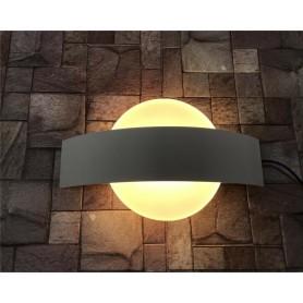 APPLIQUE LED DA PARETE DOPPIA EMISSIONE LAMPADA 8 WATT LUCE CALDA E17-BC