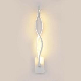 APPLIQUE A PARETE LAMPADA LED 9 WATT LUCE CALDA 3000K 9W DA INTERNO CASA